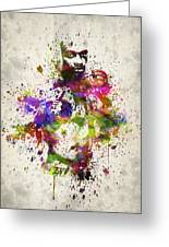 Anderson Silva Greeting Card by Aged Pixel
