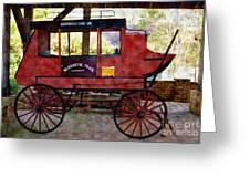 Andersonville Stage Line Slosheye Trail Greeting Card by Kim Pate