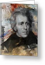 Andrew Jackson Greeting Card by Corporate Art Task Force