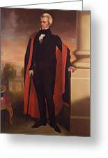 Andrew Jackson Standing Greeting Card by War Is Hell Store