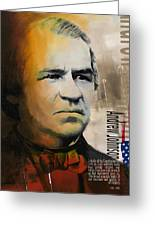Andrew Johnson Greeting Card by Corporate Art Task Force