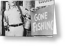 Andy Griffith in The Andy Griffith Show Greeting Card by Silver Screen