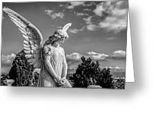 Angel At The Heredia General Cemetery Greeting Card by Andres Leon