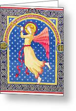 Angel Blowing Trumper Greeting Card by Lavinia Hamer