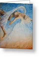 Angel Blu Drifter Greeting Card by Nik Helbig