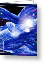 Angel Creator Greeting Card by Hartmut Jager