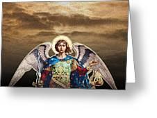 Angel Greeting Card by David Davies