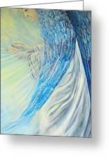 Angel Divine Greeting Card by Caroline Street