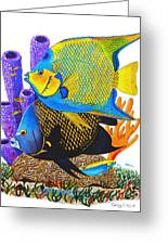 Angel Fish Greeting Card by Carey Chen