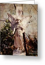 Angel Of Old Greeting Card by Sonja Quintero