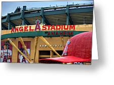 Angel Stadium Greeting Card by Ricky Barnard