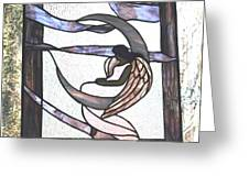 Angel Waits Greeting Card by Jill Groves