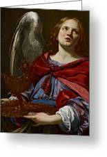 Angel With Attributes Of The Passion Greeting Card by Simon Vouet