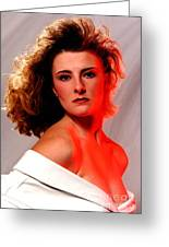 Angela Red Leather Greeting Card by Gary Gingrich Galleries