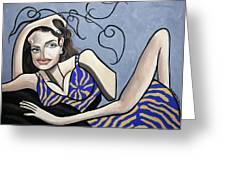 Angelina Jolie You Been Cubed Greeting Card by Anthony Falbo