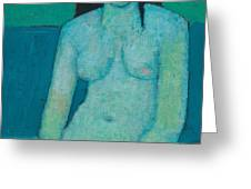 Angelina Nude Greeting Card by Endre Roder