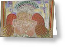 Angels At Heavens Gate Greeting Card by Lyn Blore Dufty