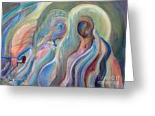 Angels Greeting Card by Pamela Parsons