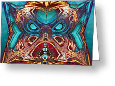 Angry Pillow Greeting Card by Jim Pavelle
