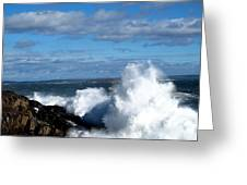 Angry Shores Greeting Card by Donnie Freeman