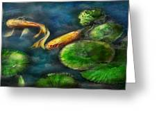 Animal - Fish - The shy fish  Greeting Card by Mike Savad