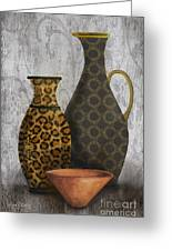 Animal Print Vase Still Life-b Greeting Card by Jean Plout