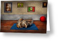 Animal - Squirrel - And stretch Two Three Four Greeting Card by Mike Savad