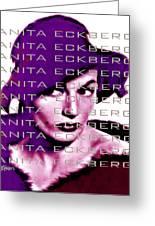 Anita Eckberg In Wine Greeting Card by Seth Weaver