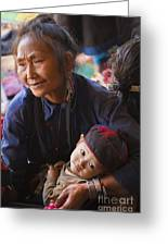 Ann Tribal Grandmother - Kengtung Burma Greeting Card by Craig Lovell