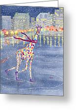 Annabelle On Ice Greeting Card by Rhonda Leonard