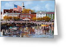 Annapolis Greeting Card by Guido Borelli