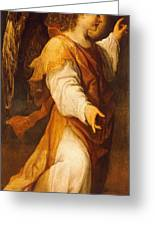 Announcing Angel Greeting Card by Annibale Carracci