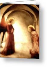 Annunciation Greeting Card by Gun Legler