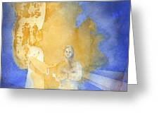 Annunciation Greeting Card by John Meng-Frecker