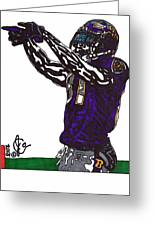 Anquan Boldin Greeting Card by Jeremiah Colley