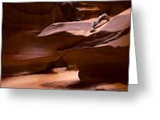 Antelope Canyon Hike Greeting Card by Michael J Bauer