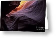 Antelope Canyon Movement In Stone Greeting Card by Bob Christopher