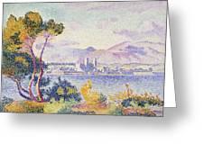 Antibes Afternoon Greeting Card by Henri Edmond Cross