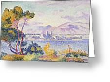 Antibes Afternoon Greeting Card by Henri Edmond Cross