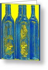 Antibes Blue Bottles Greeting Card by Ben and Raisa Gertsberg