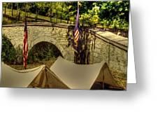 Antietam - 8th Connecticut Volunteer Infantry-A1 Encampment Near the Foot of Burnsides Bridge Greeting Card by Michael Mazaika