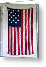 Antique American Flag Greeting Card by Olivier Le Queinec