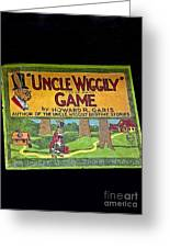 Antique Board Game Uncle Wiggily Greeting Card by Valerie Garner