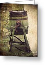 Antique Butter Churn Greeting Card by Linsey Williams