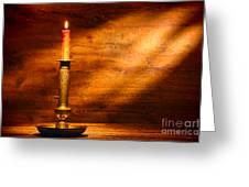 Antique Candlestick Greeting Card by Olivier Le Queinec