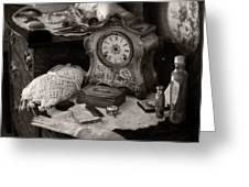 Antique Dresser I Greeting Card by Maria Angelica Maira