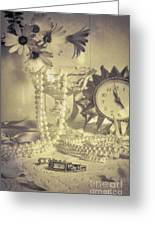 Antique Dressing Table Greeting Card by Amanda Elwell