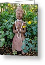 Antique Garden Goddess Greeting Card by Eileen Lighthawk