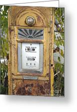 Antique Gas Pump Greeting Card by Peter French