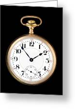 Antique Gold Pocketwatch Greeting Card by Jim Hughes